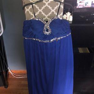 blue deb dress